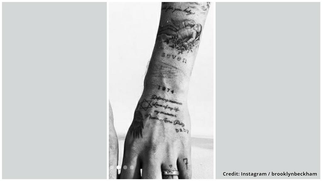 Brooklyn Beckhams neustes Tattoo auf der Hand.