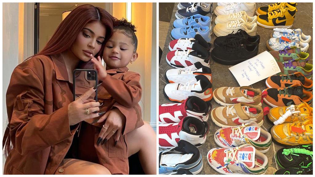 """Kylie Jenners Tochter Stormi """"ist so verwöhnt"""": Die 3-Jährige besitzt schon eine teure Schuh-Kollektion."""