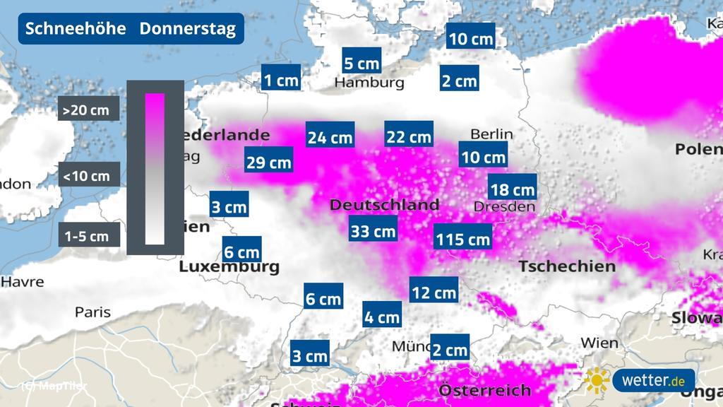 Vor allem die Mitte und der Osten werden unter eine dicke Schneedecke gelegt.