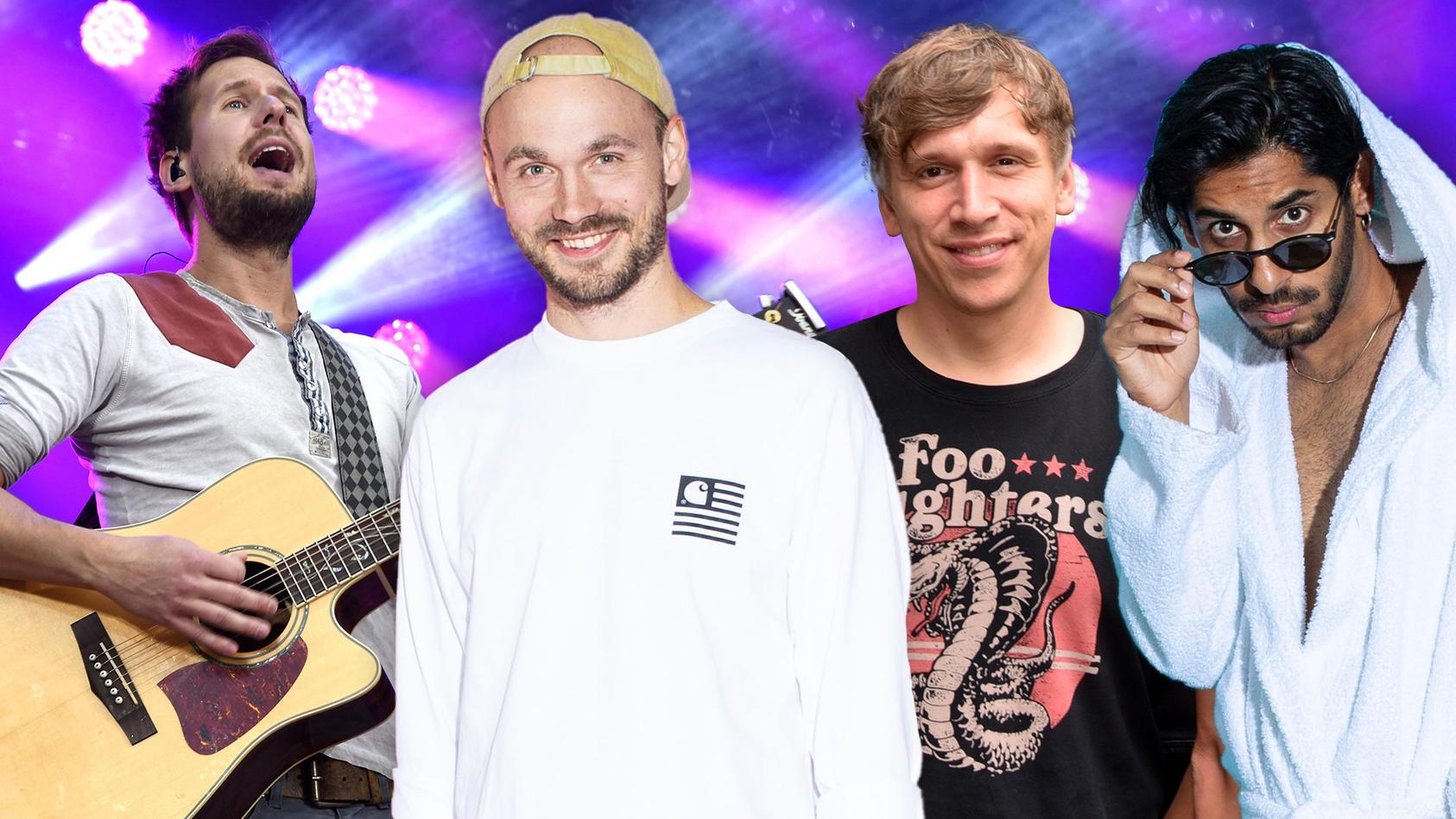 """Mike Kremer, Pierre Pihl, Basti Campmann und Juri Rother haben Songs mit dem Motto """"Wir leben nur einmal"""" geschrieben."""