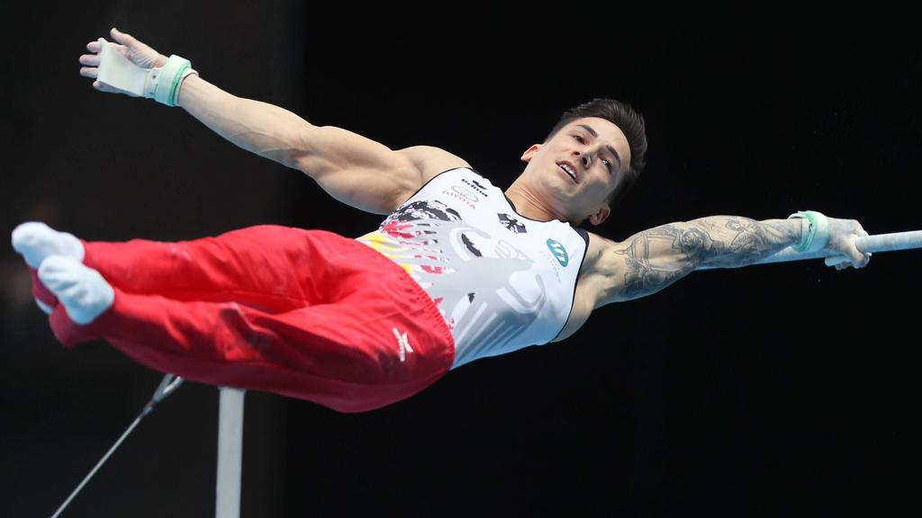 Marcel Nguyen, GER, during qualification at 2019 European Artistic Gymnastics Championships in Szczecin 10/04/2019 *** Marcel Nguyen GER during qualification at 2019 European Artistic Gymnastics Championships in Szczecin 10 04 2019 PUBLICATIONxNOTxI