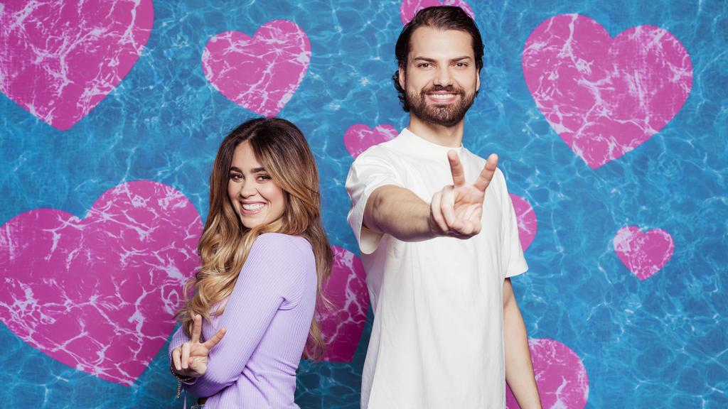 """""""Love Island – Aftersun: Der Talk danach"""" mit Melissa Damilia und Jimi Blue Ochsenknecht."""
