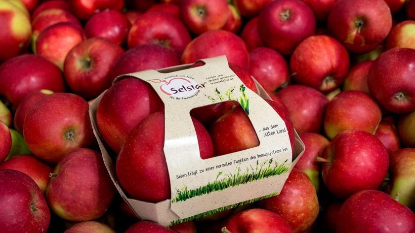 Forscher der Hochschule Osnabrück haben eine Apfelsorte entwickelt, die zehnmal so viel Selen enthält wie herkömmliche Äpfel.