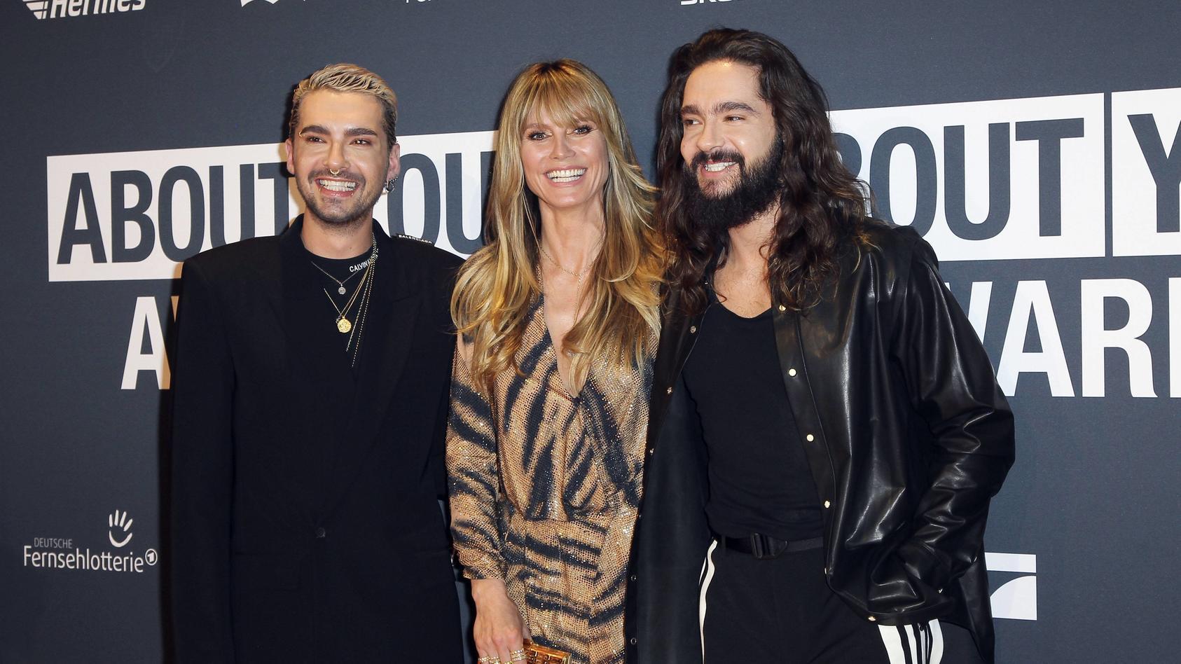 Bill Kaulitz Heidi Klum und Tom Kaulitz bei der Verleihung der About You Awards 2019