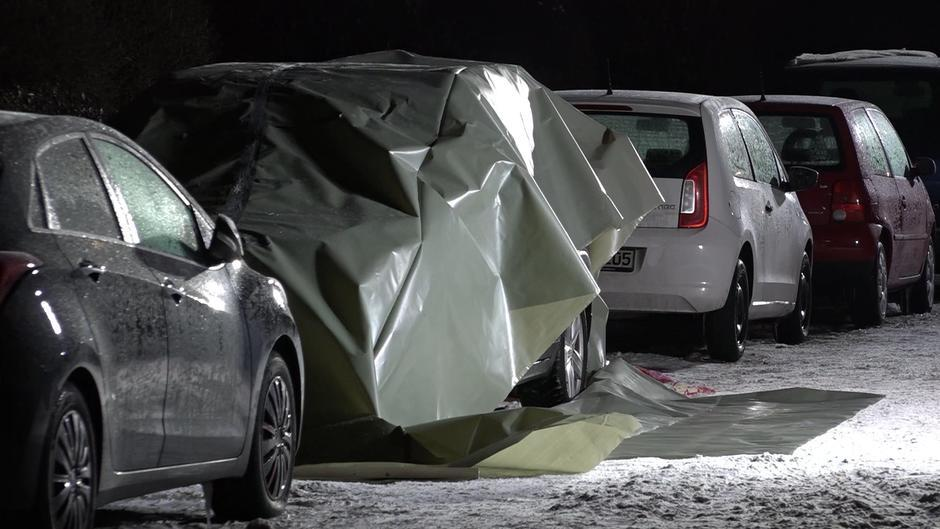 In Fulda Neuenberg wurde am Montagmorgen eine Leiche in einem Auto gefunden.