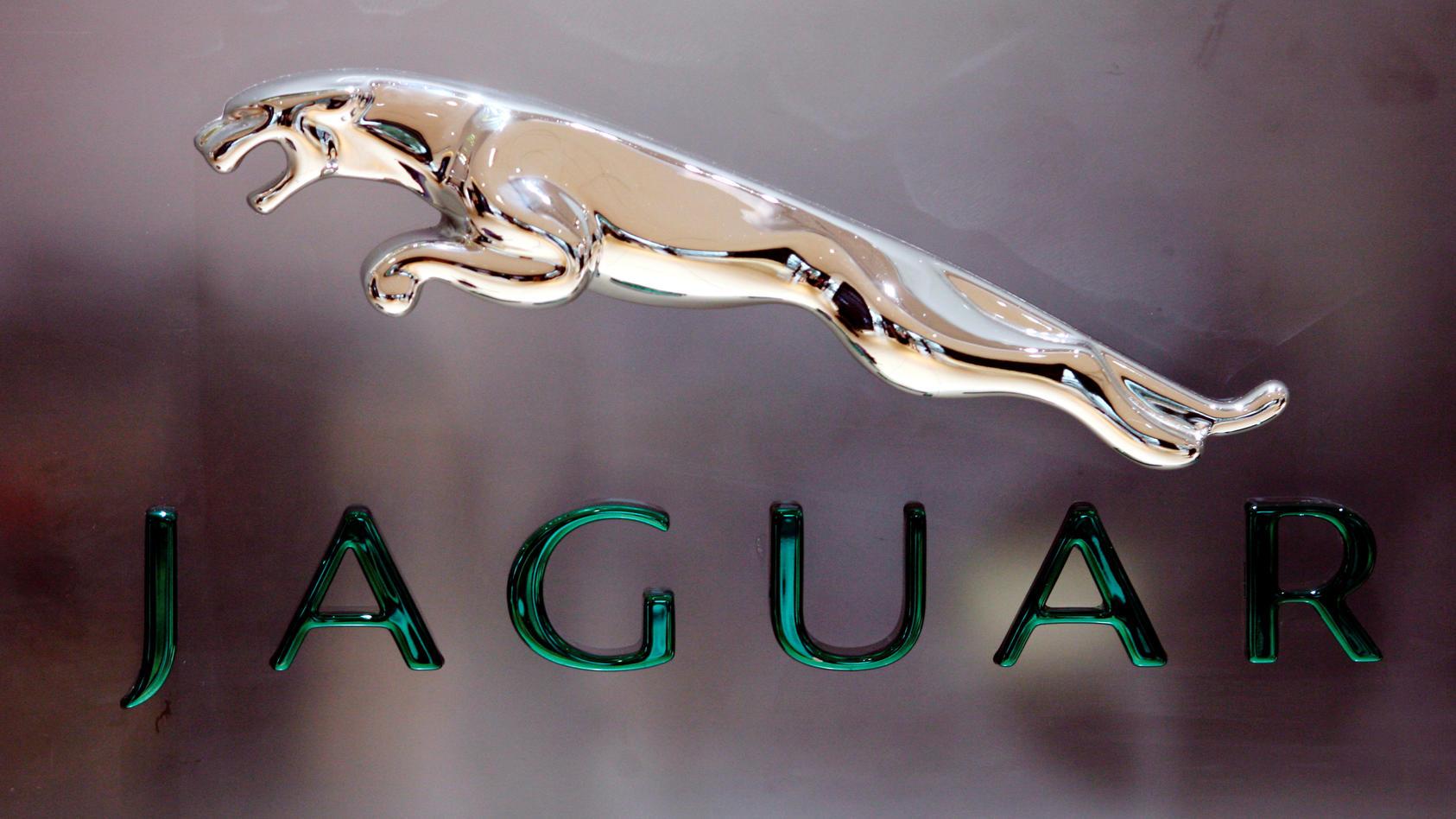 FILE PHOTO: The Jaguar logo is pictured at a Jaguar Landrover showroom in Mumbai