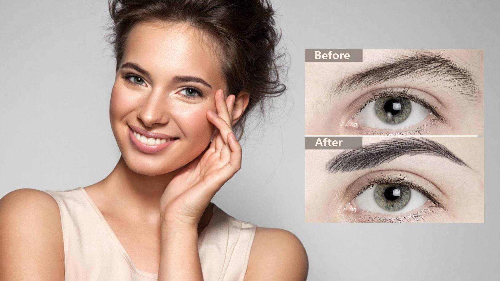 Microblading oder Aufkleber für die Augenbrauen benutzen? Viele Frauen entscheiden sich inzwischen für die Aufkleber-Variante.