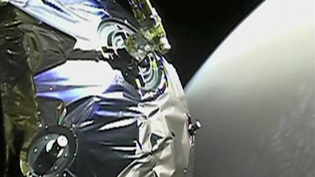 A view as Tianwen-1 probe enters the orbit of Mars in this screen grab obtained from a video on February 12, 2021. CHINA NATIONAL SPACE ADMINISTRATION (CNSA)/Handout via REUTERS THIS IMAGE HAS BEEN SUPPLIED BY A THIRD PARTY. NO RESALES. NO ARCHIVES.