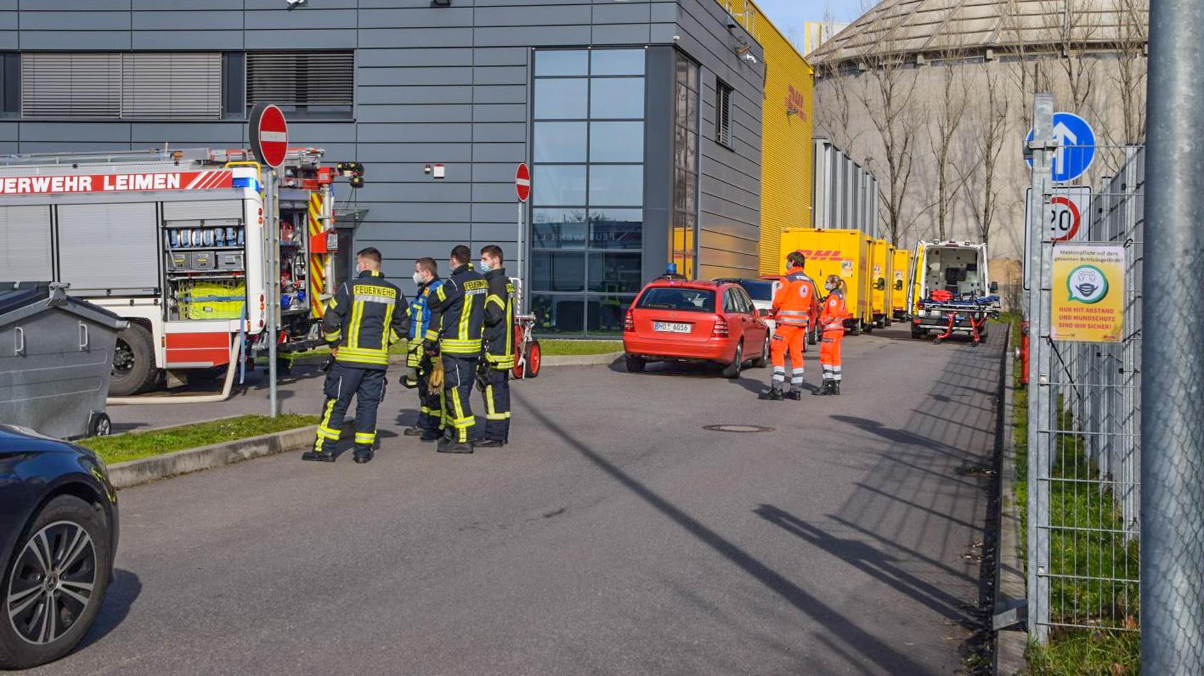 Verdächtiges Paket in Paketverteilzentrum in Leimen