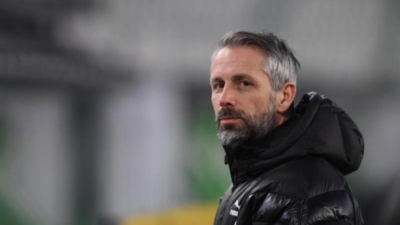 Gladbachs Noch-Trainer Marco Rose steht gegen Manchester City im Fokus. Foto: Swen Pförtner/dpa