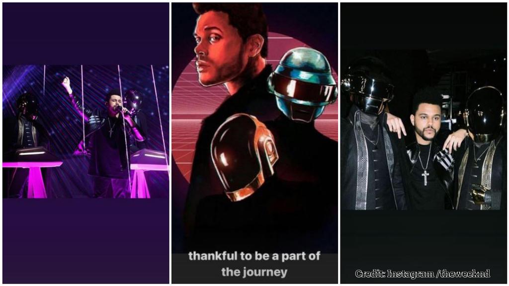 The Weeknd und Daft Punk standen gemeinsam auf der Bühne.