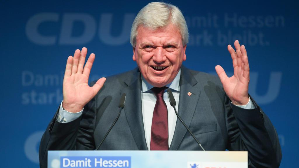 Volker Bouffier (CDU), Ministerpräsident des Landes Hessen, spricht beim Landesparteitag der CDU Hessen.