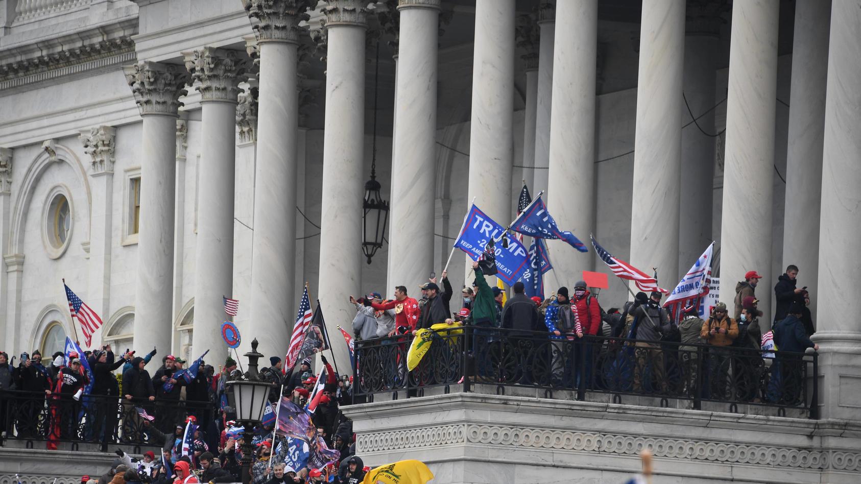 January 6, 2021, Washington, DC, USA: 1/6/20- U.S. Capitol- Washington DC..President Trump s supporters storm the U.S.