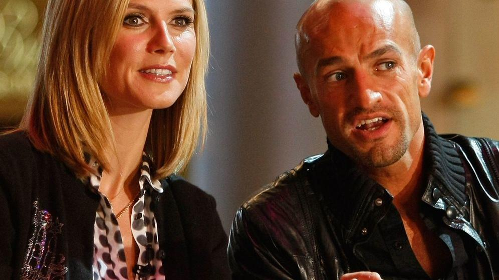 Model Heidi Klum und Peyman Amin kennen sich von einer vorherigen GNTM-Staffel