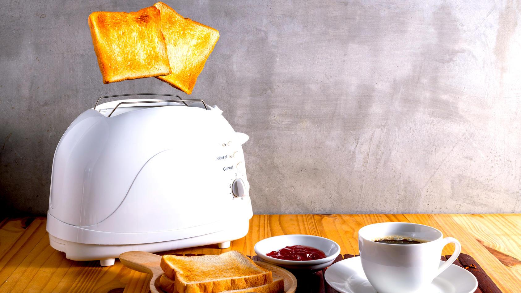 Die Nummern auf den Toastern zeigen nicht die Minuten an