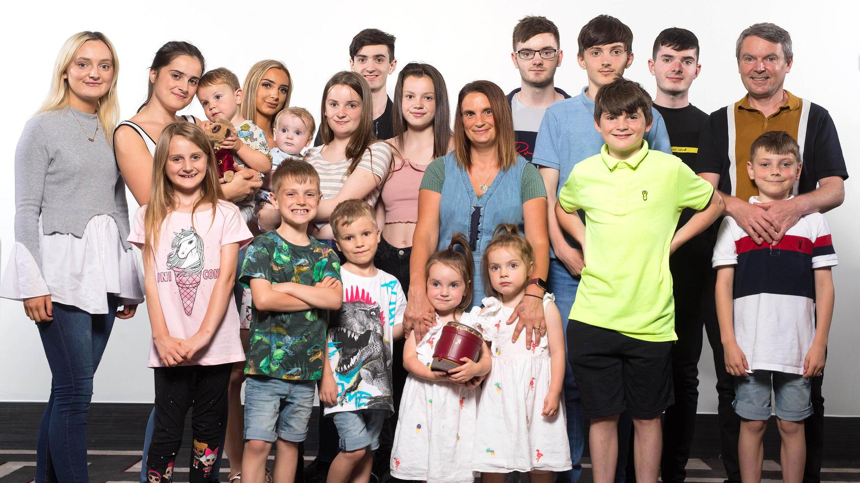 Die Radford-Familie  bei einem Fotoshooting am 30.07.2019.