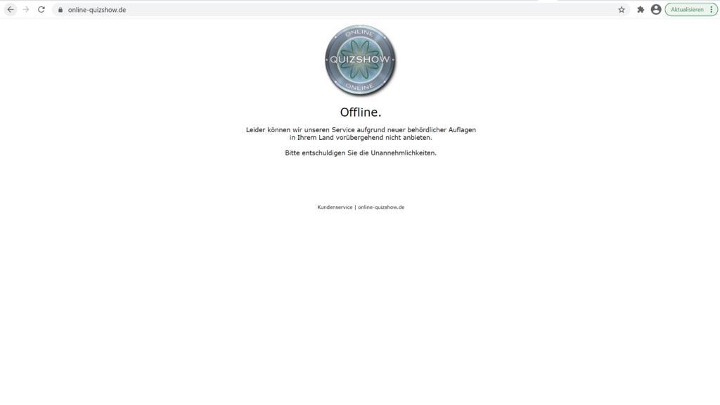 Die Staatsanwaltschaft ermittelt gegen die inzwischen offline genommene Online-Quizshow.