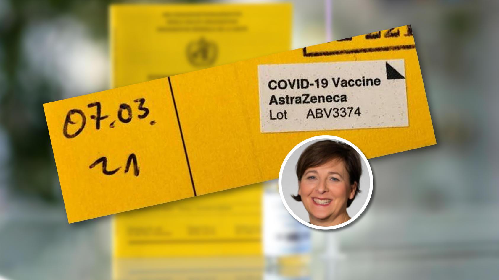 RTL-Redakteurin Kathrin Gräbener wurde mit dem Corona-Impfstoff von AstraZeneca geimpft.