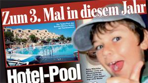 Hotel-Pool saugt Kind in den Tod - zum dritten Mal in 2011