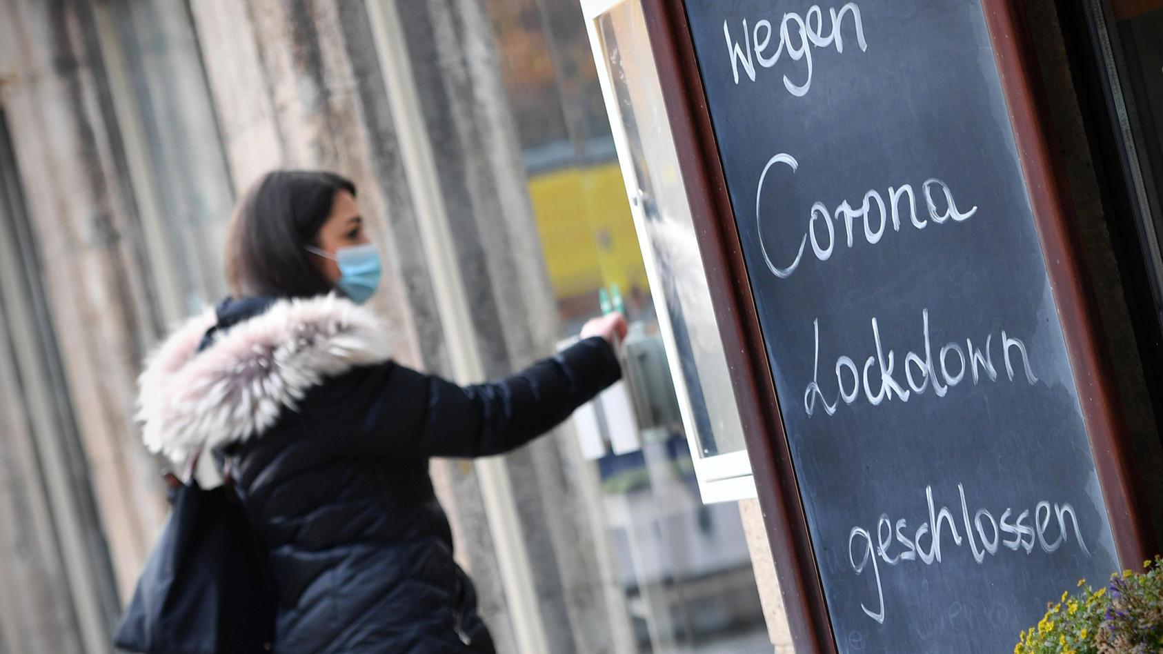 Wegen des Corona-Lockdowns haben viele Gastronomiebetriebe geschlossen.