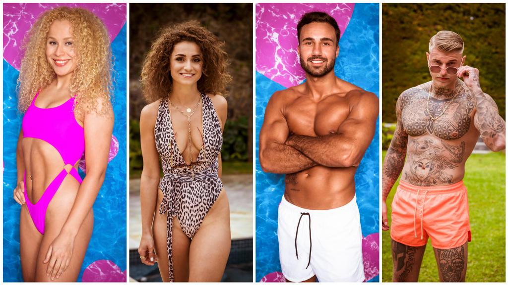 Das sind die neuen Islanderinnen und Islander: FinnEmma, Julia, Alex und Paco.