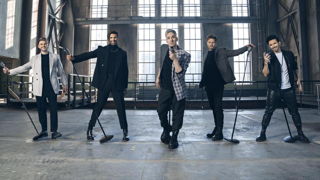 """Sven, Jay, David, Joel und Marc sind die Boyband """"TEAM 5ÜNF"""""""