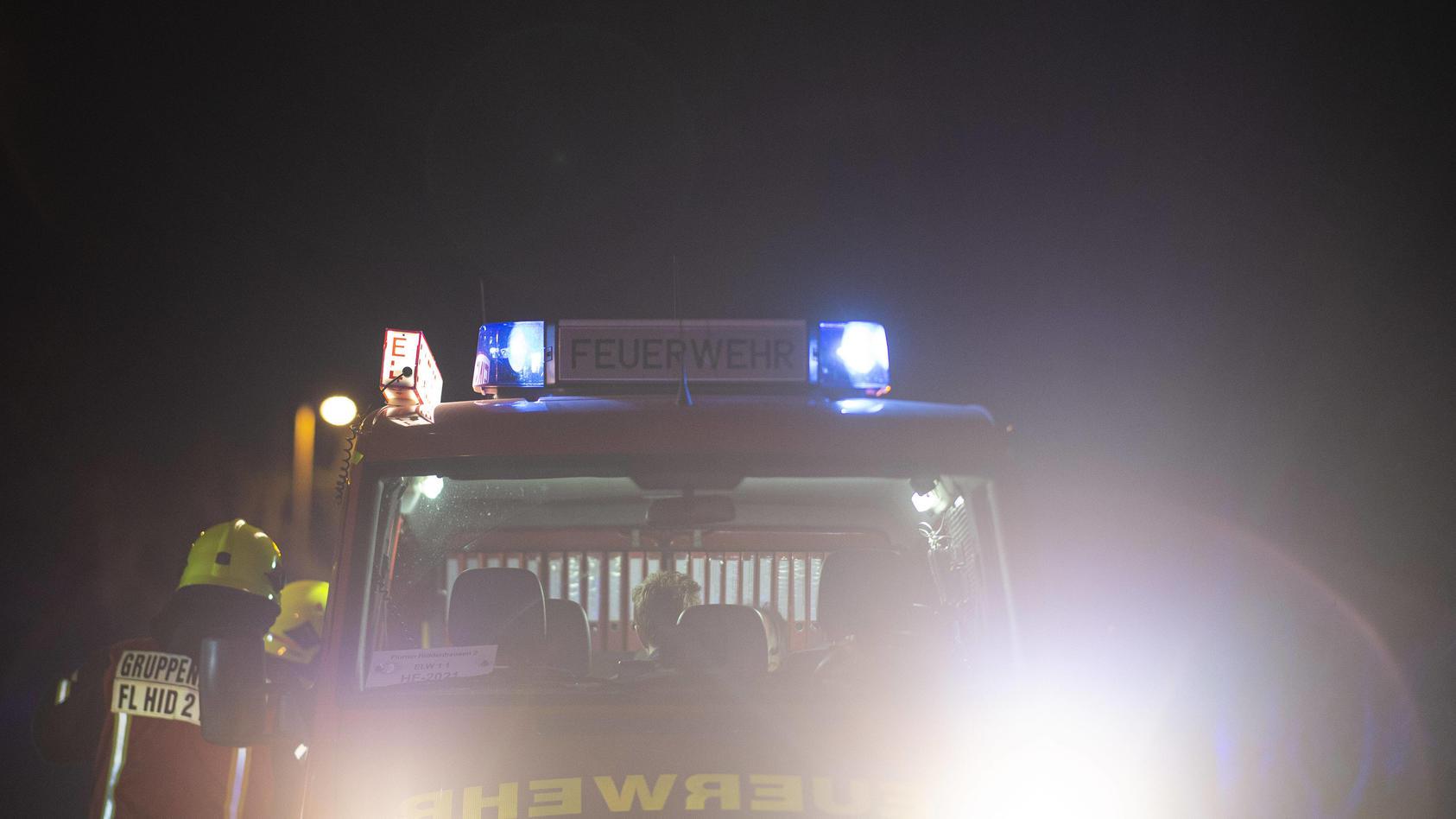 am-donnerstagabend-sind-zwei-lastwagen-nach-einem-auffahrunfall-in-brand-geraten