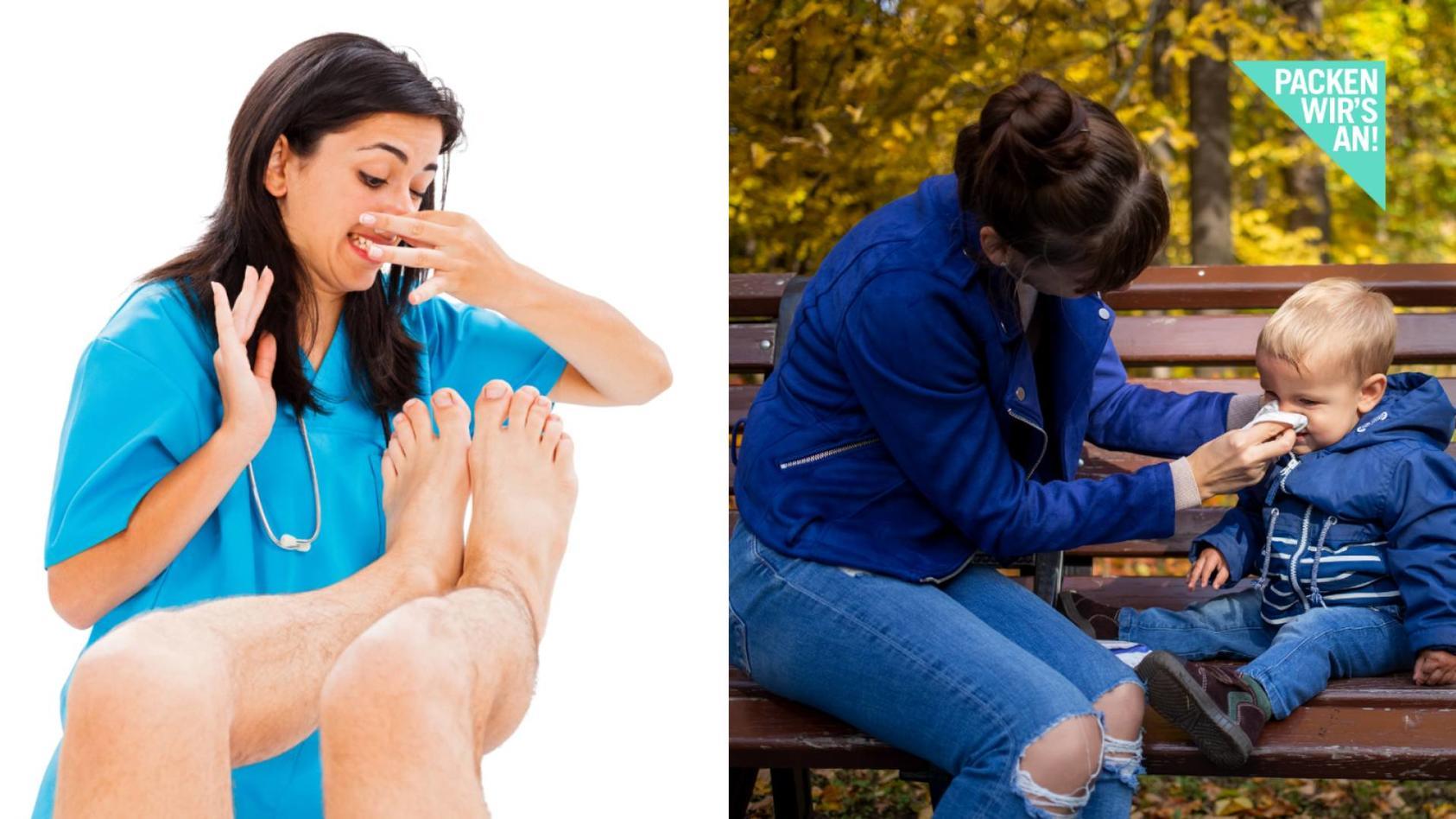 Waren stinken Füße - wenn die Nase läuft?