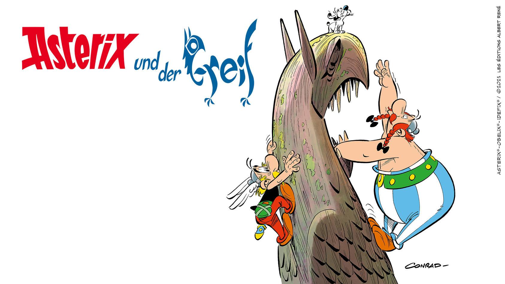 """Das Cover von """"Asterix und der Greif"""""""