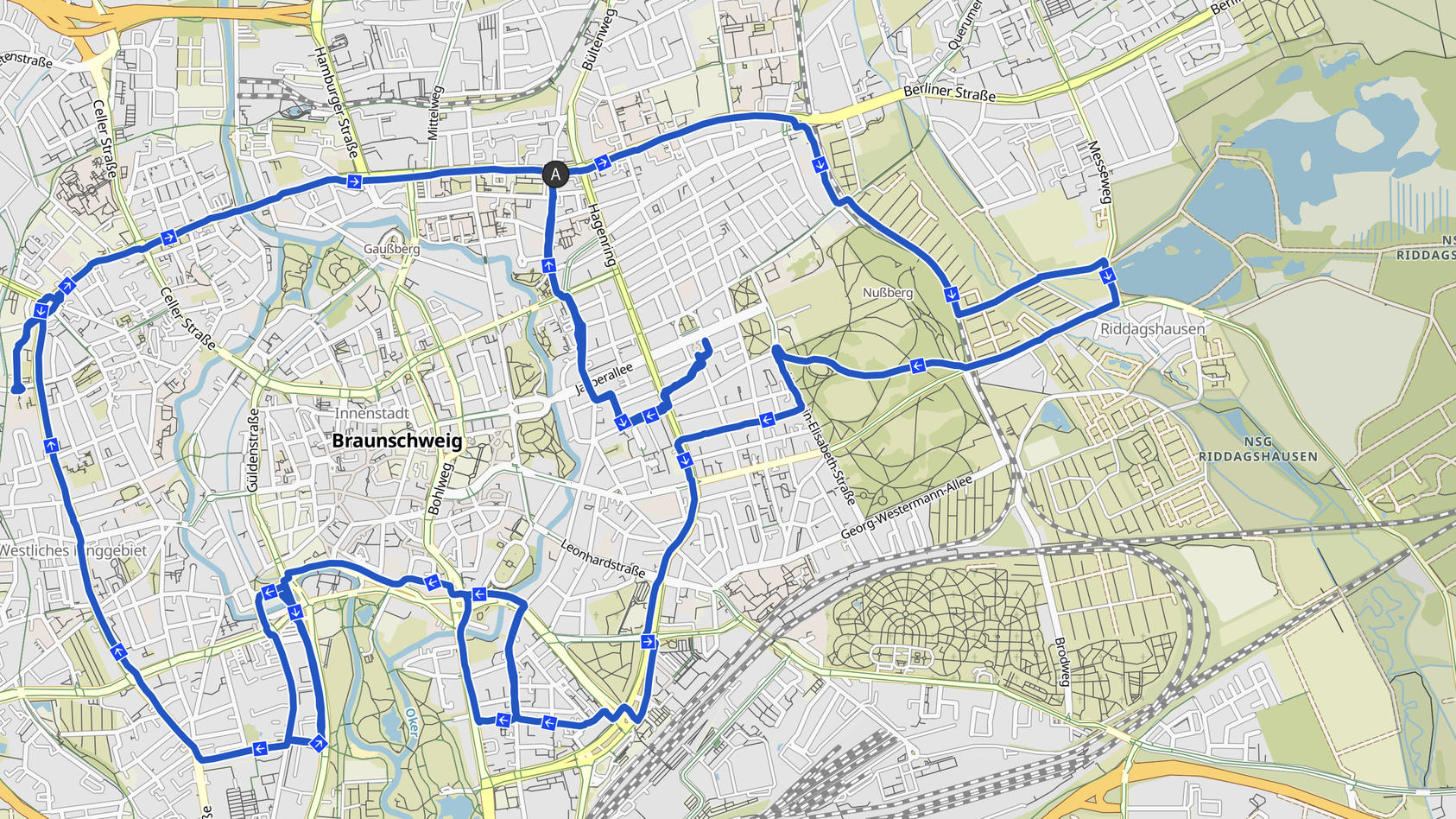 Elefant: GPS-Drawing Volker Weinlich aus Braunschweig (gpsbilder.de/Komoot.de)