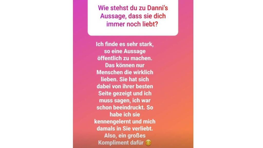 So reagiert Ennesto auf Danni Büchners Liebesbotschaft.