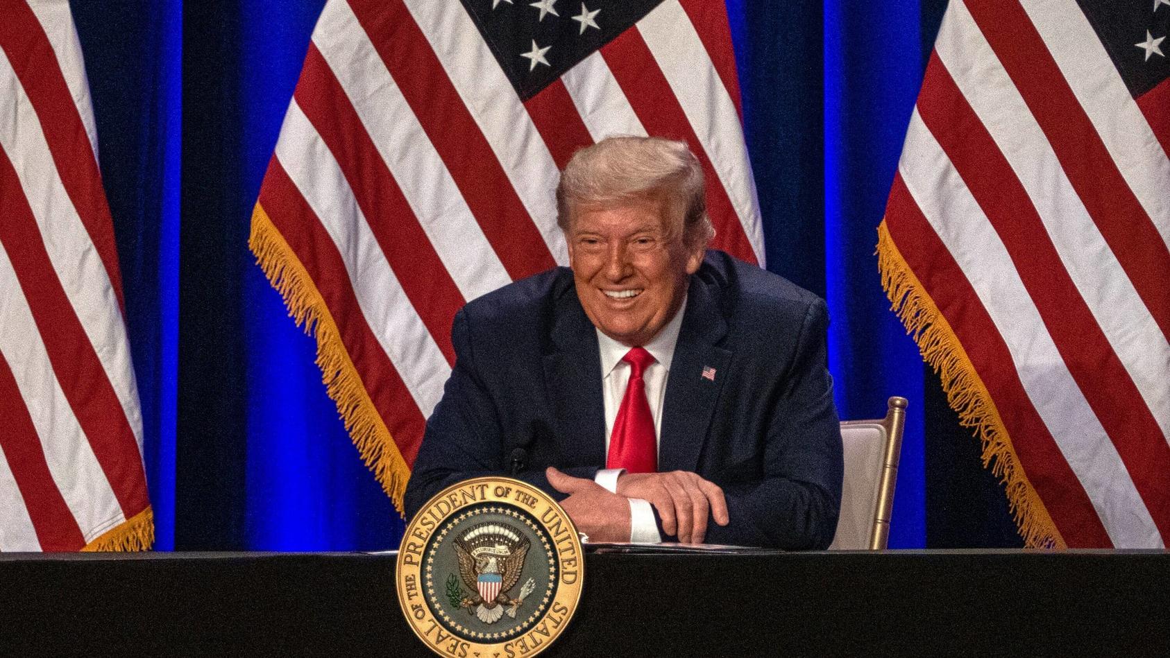 Um Ex-Präsident Donald Trump ist es ruhig geworden. Die Republikaner tagen derweil ohne ihn.