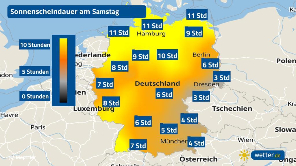 Der Wetterbericht für Ostern verspricht bis Sonntag zum Teil viel Sonne.