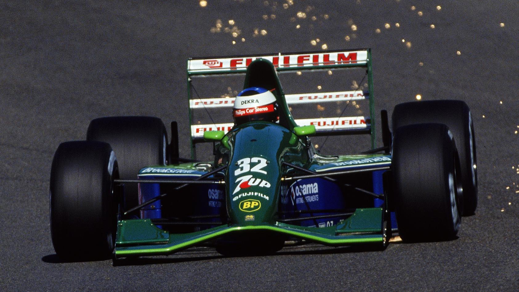 Michael Schumacher gab 1991 in diesem Jordan sein F1-Debüt