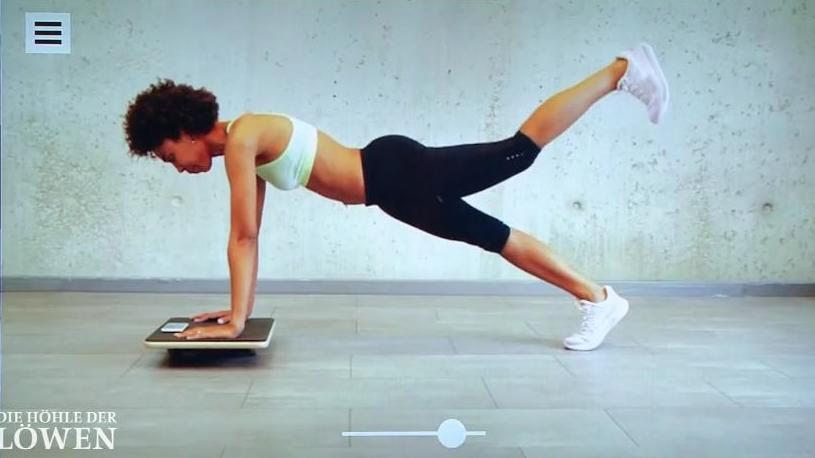 Mit dem Plankpad lässt sich der Rücken trainieren.