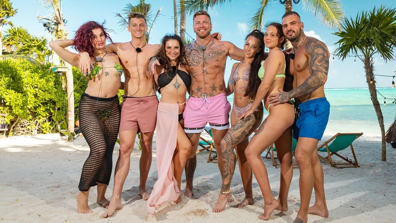 V.l.: Lara, Tommy, Roxy, Till, Sandra, Celina und Diogo.