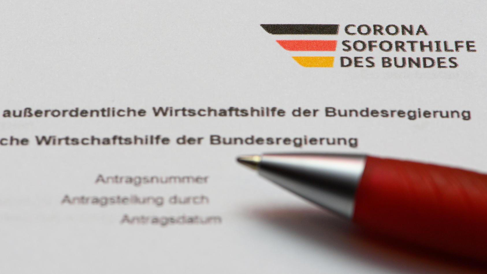 "Coronavirus - Antrag ""Corona Soforthilfe des Bundes"""