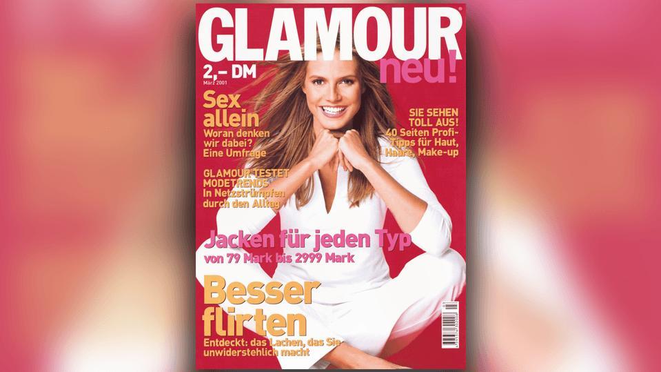 """Heidi Klum war auch schon auf dem """"Glamour""""-Cover zu sehen - vor etwa 20 Jahren!"""