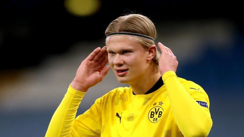 Erling Haaland von Borussia Dortmund gestikuliert. Foto: Nick Potts/PA Wire/dpa