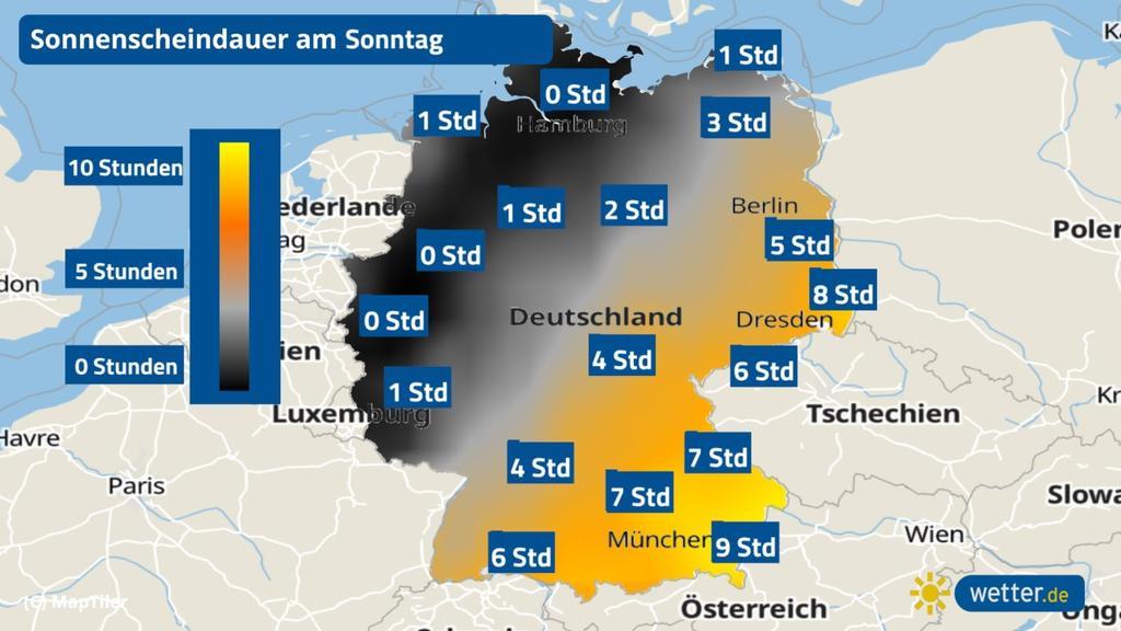 Am Sonntag gibt es in in manchen Teilen Deutschlands einige Sonnenstunden.