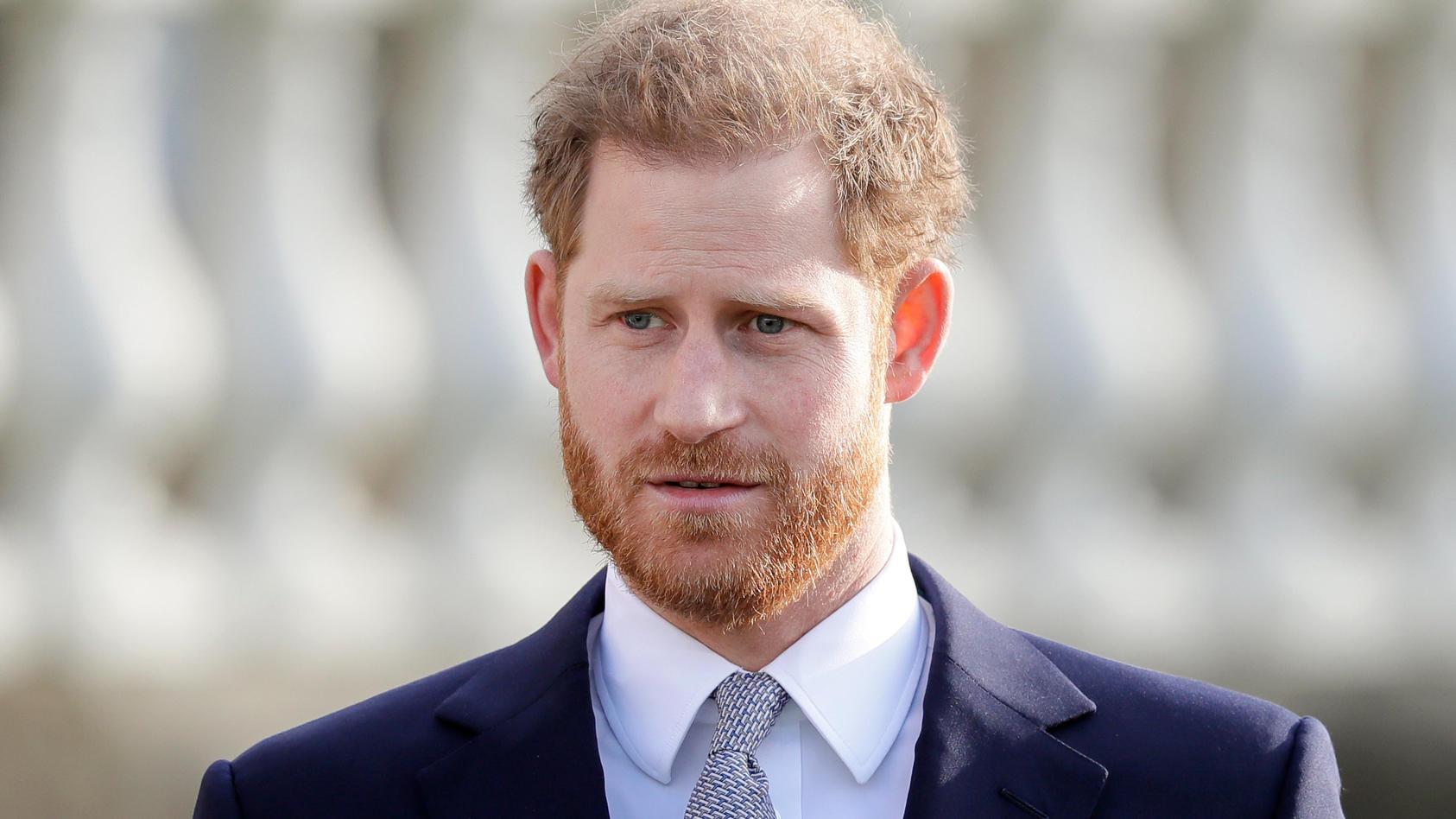 Nach Tod von Prinz Philip ist Prinz Harry nach London gereist.