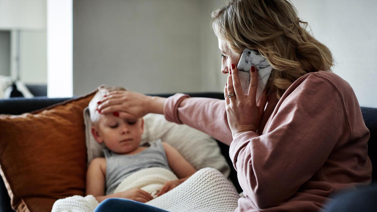 Wenn Kinder krank sind, können sich Eltern nicht distanzieren.