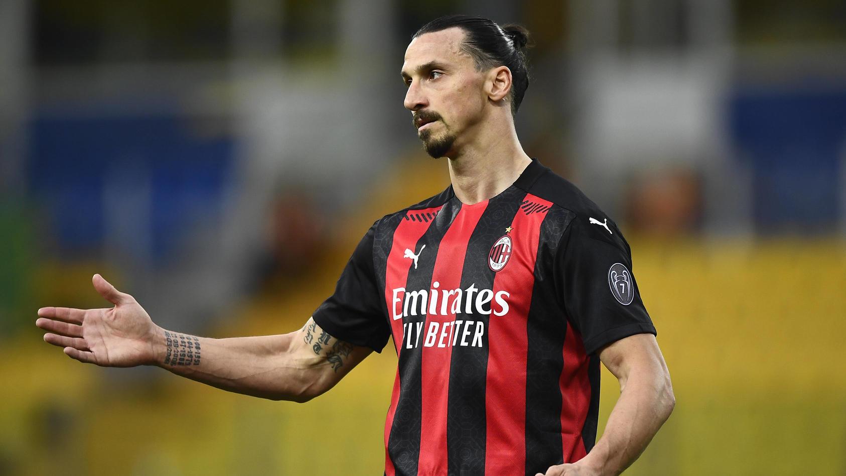 Zlatan Ibrahimovic im Trikot des AC Mailand