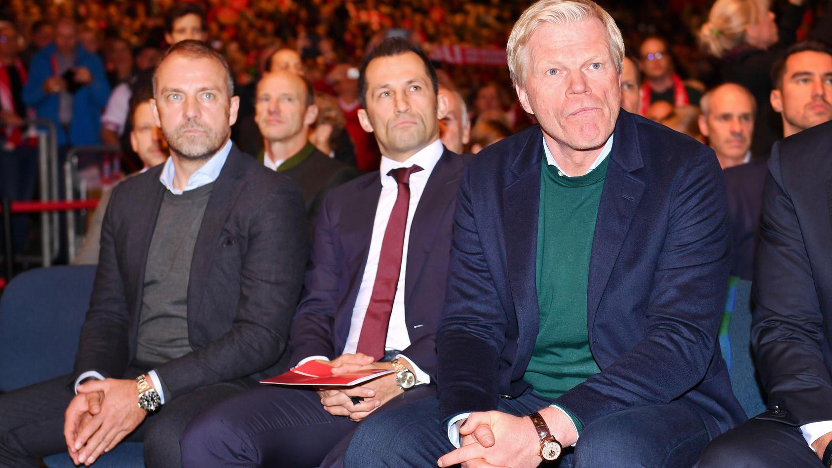Hansi Flick, Hasan Salihamidzic und Oliver Kahn