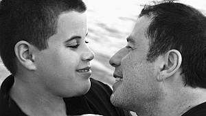 John Travolta mit seinem Sohn Jett.