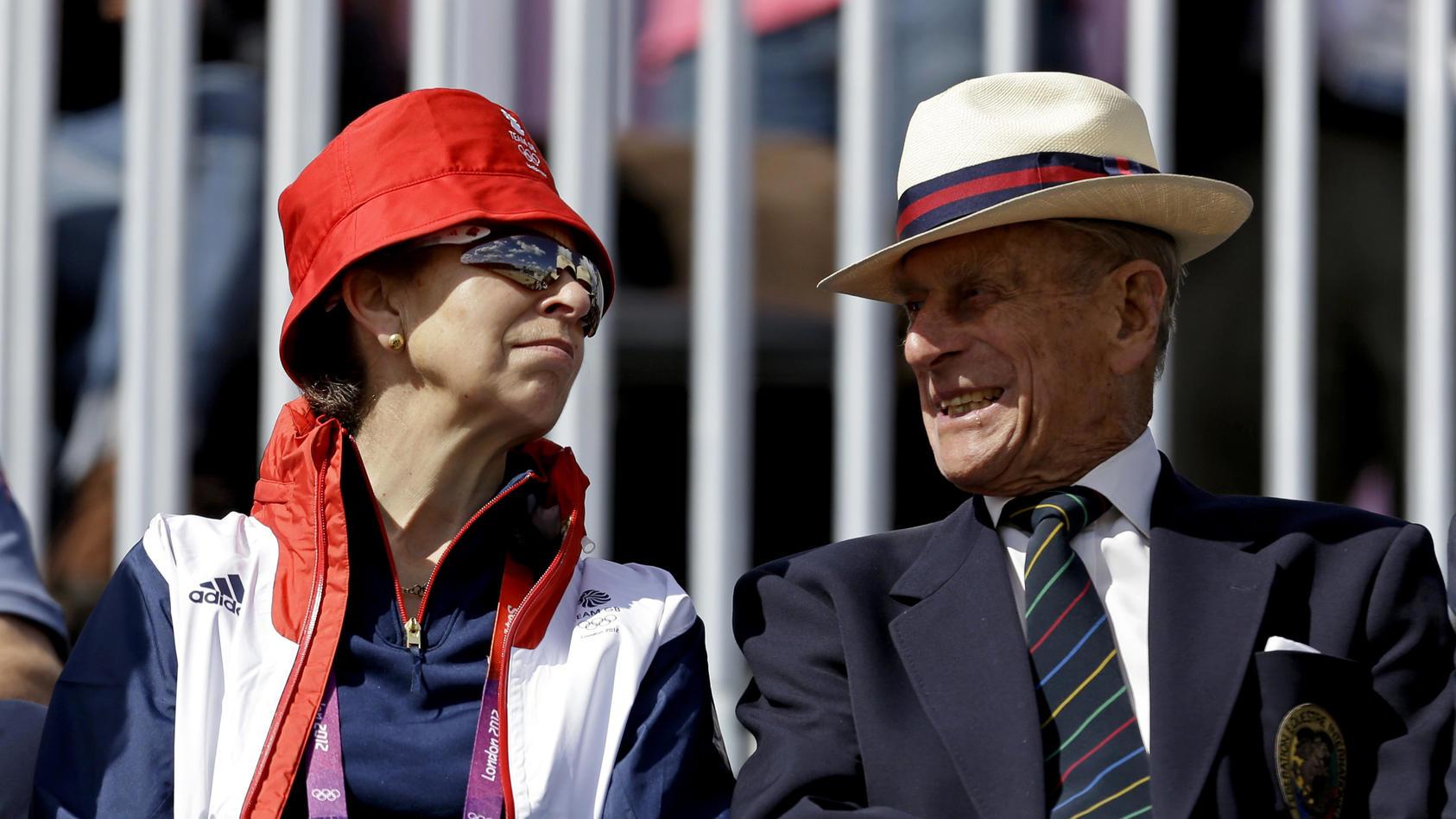 Prinzessin Anne mit ihrem Papa Prinz Philip