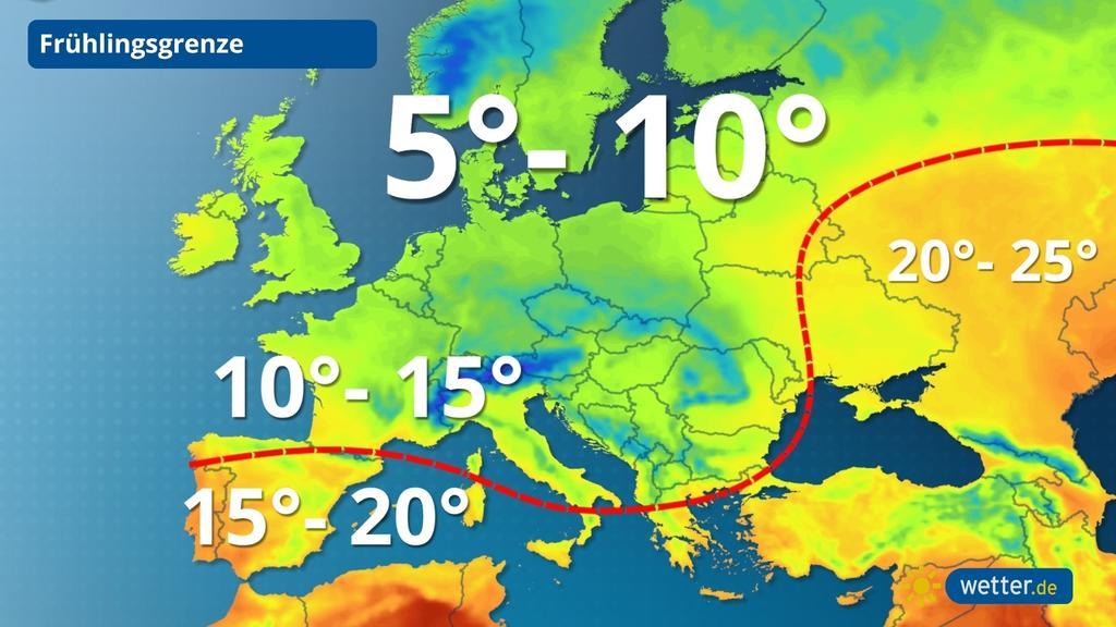 Die Frühlingsgrenze teilt Europa.