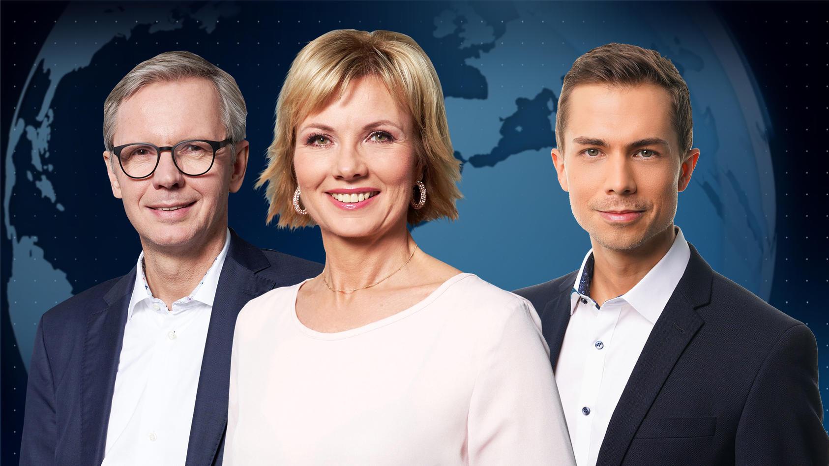 Lothar Keller, Ilka Eßmüller und Christoph Hoffmann moderieren das 'RTL Nachtjournal'.