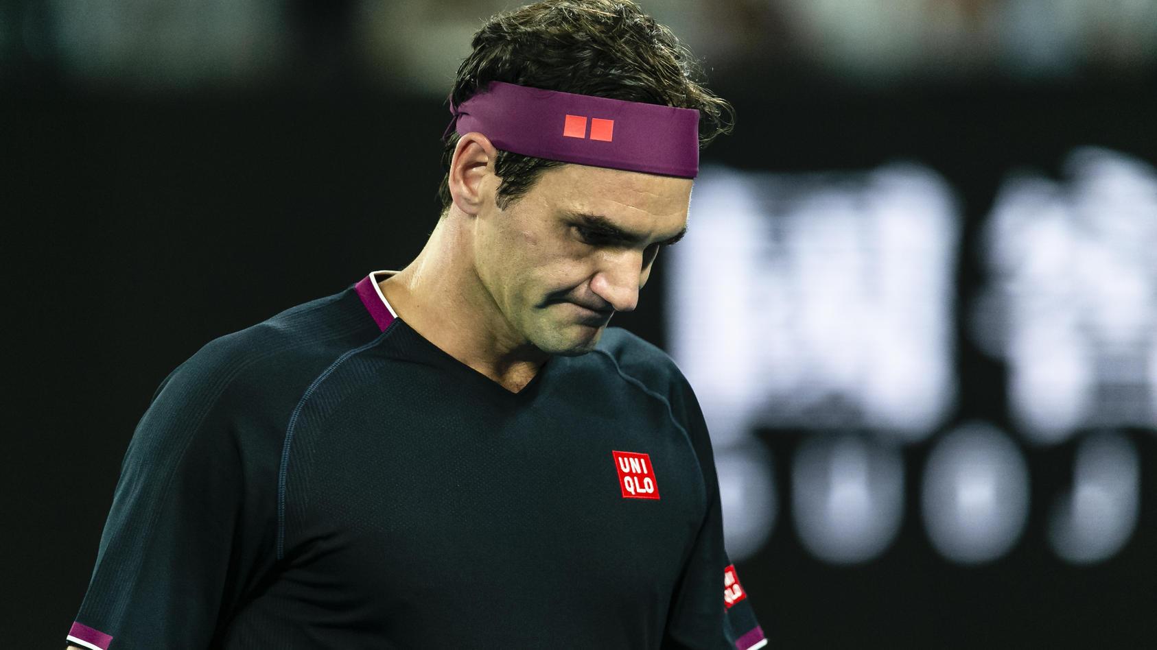 Roger Federer ist frustriert