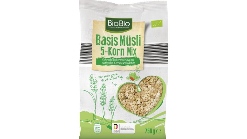 """BioBio Basis Müsli 5-Korn Mix"" von Netto"